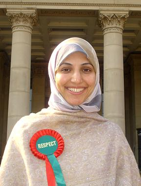 Salma Yaqoob of the Respect Party is standing for MP in Birmingham  Hall Green