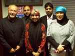 George Galloway MP, Cllr Mohammed Ishtiaq, Cllr Salma Yaqoob, Cllr naeem Ullah Khan and sister Yvonne Ridley, all of the Respect party