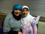 Yvonne Ridley with young Muslim girl
