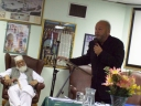 George galloway in Birmingham Central Mosque