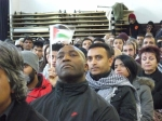 A diverse crowd come out in support of Gaza
