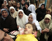Four-year-old Lama Hamdan killed by an Israeli missile on 29 December.