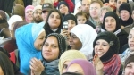 Supporters cheer Salma Yaqoob