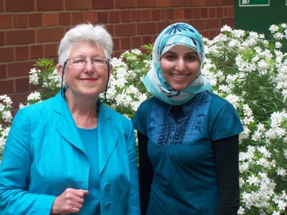 Salma Yaqoob is backing Green Party MEP caniddate Felicity Norman