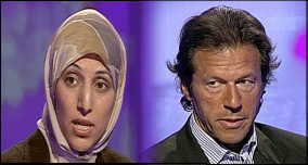 Salma Yaqoob and Imran Khan on the BBC's 'This Week' show