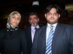 Cllr Salma Yaqoob with Perviz Khan and Waseem Zaffer