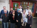 Respect Leader Salma Yaqoob with members of Bristol Respect